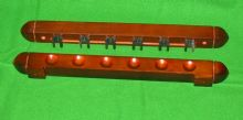 Mahogany 6 cue Pool snooker billiard table wall rack cue rest + extension holder - 281605407525